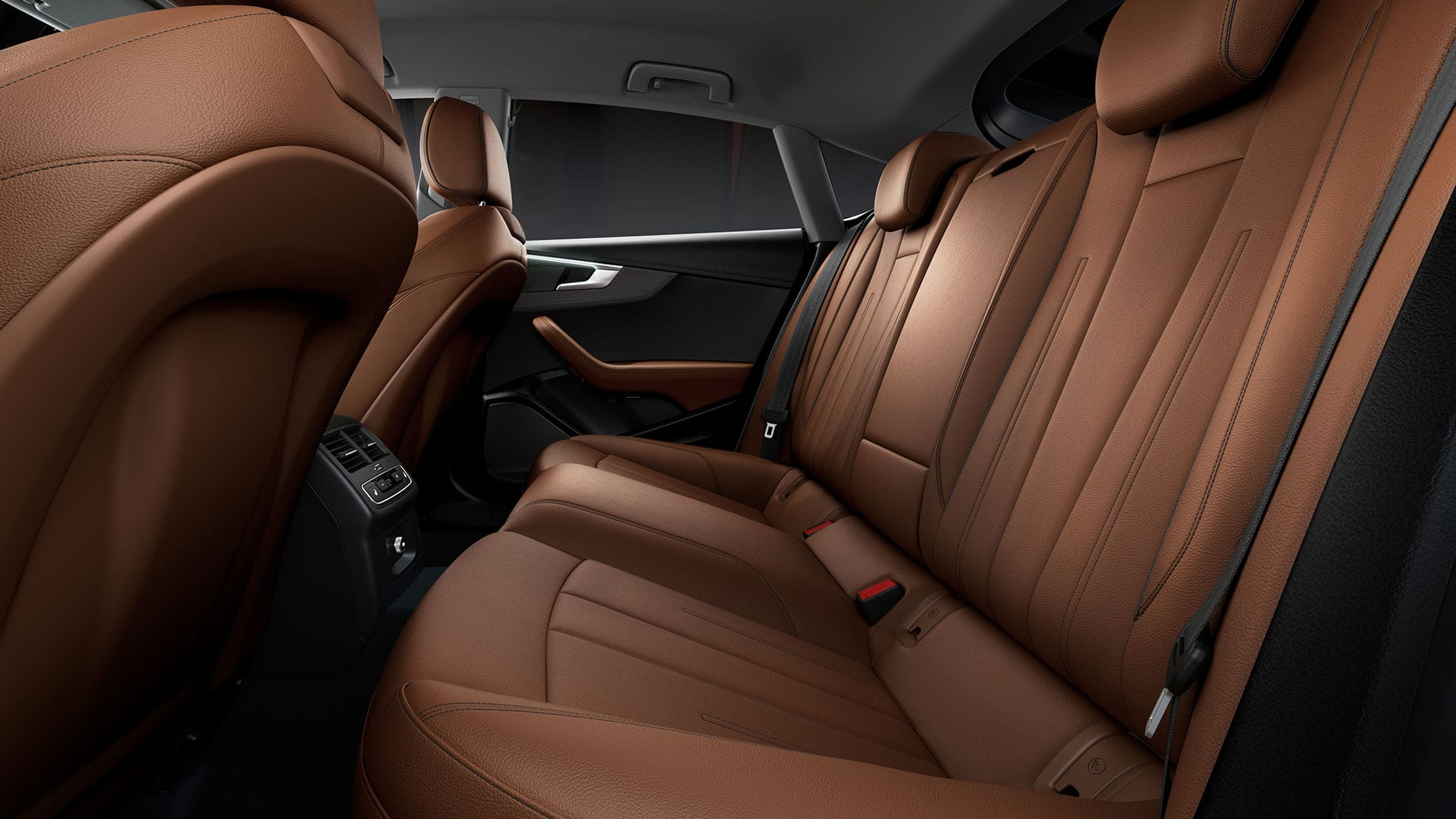 The rear seats of the Audi A5 Sportback g-tron